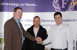 Alternative & Erneuerbare Energien News: Alternative Regenerative Erneuerbare Energien - Foto: von links nach rechts: Paul Jurik (Fortuna Hotels), Dirk Euler (Euler + Wohlfahrt), Andreas Will (SSV Reutlingen).