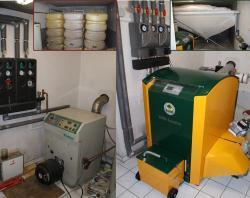 Alternative & Erneuerbare Energien News: Alternative Regenerative Erneuerbare Energien - Foto: Davor und danach. Umrüstung von Öl auf Pellets.