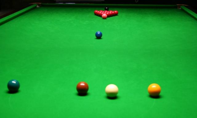 Sport-News-123.de | Typischer Aufbau des Snookertisches