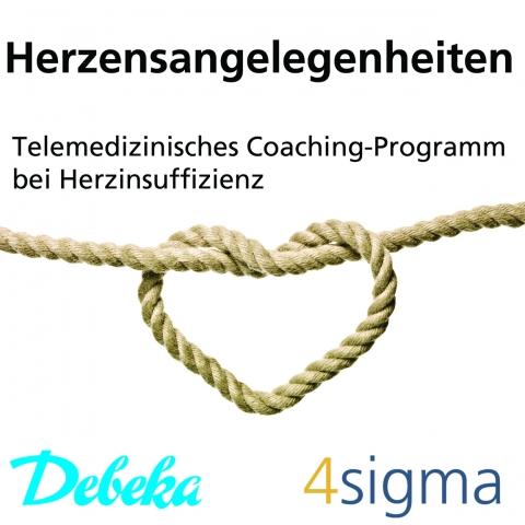 Herzensangelegenheiten - Debeka und 4sigma kooperieren bei telemedizinischem Coachingprogramm Herzinsuffizienz