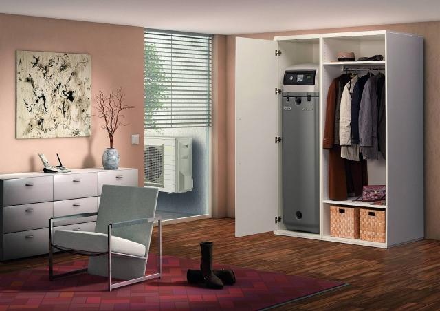 Die ROTEX Luft/Wasser-Wärmepumpe HPSU compact 308 findet in jedem Raum Platz.
