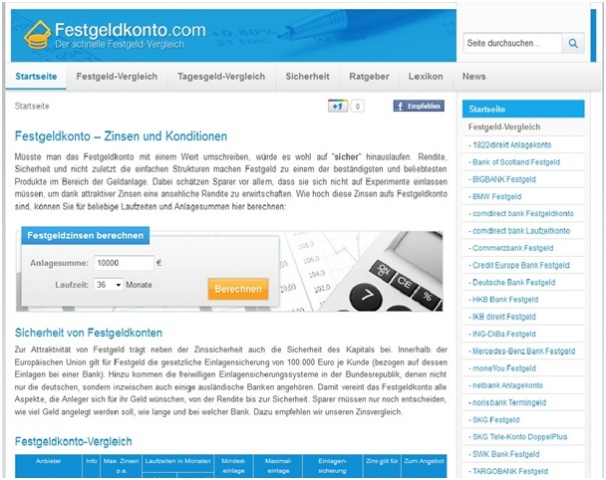 Einkauf-Shopping.de - Shopping Infos & Shopping Tipps | Festgeldkonto.com - Festgeld mit Top-Zinsen im Vergleich