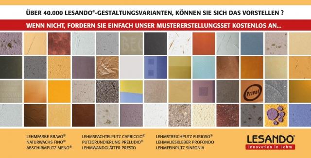 Mustererstellungsset für Lehmputze und Lehmfarbe