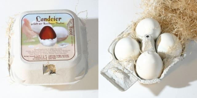 """Originelles Ostergeschenk: Die """"Landeier"""" von Chocolats-de-luxe.de."""
