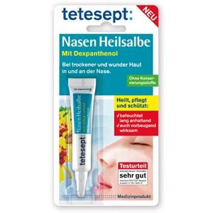 tetesept Nasen Heilsalbe heilt, pflegt und schützt trockene und wunde Nasen