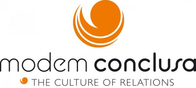Die neue Wort-Bildmarke von modem conclusa