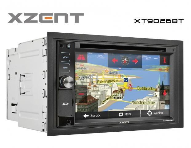 Europa-247.de - Europa Infos & Europa Tipps | XT9026BT: 2-DIN Festeinbaunavigation von Xzent