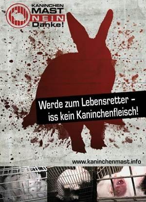 Landwirtschaft News & Agrarwirtschaft News @ Agrar-Center.de | Die Aufkleber der neuen Kampagne >> Werde zum Lebensretter - iss kein Kaninchenfleisch << können Sie gegen Erstattung der Portokosten kostenfrei bestellen!