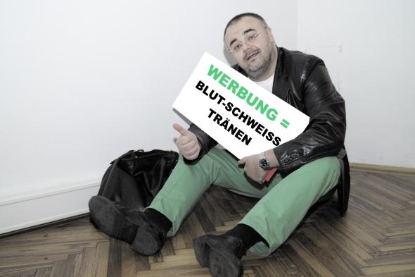 Wien-News.de - Wien Infos & Wien Tipps | Der Werbetherapeut verspricht keine Frühlingswiese sondern: Blut, Schweiß und Tränen