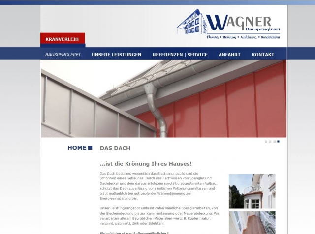 Haussanierung: | Internetauftritt der Bauspenglerei Wagner - Dachsanierung und Spenglerarbeiten am Bau