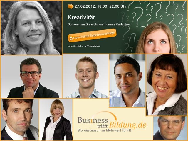 Chat News & Chat Infos @ Chats-Central.de   Hochkarätige Redner auf dem Live Online Kongress zum Thema Kreativität.