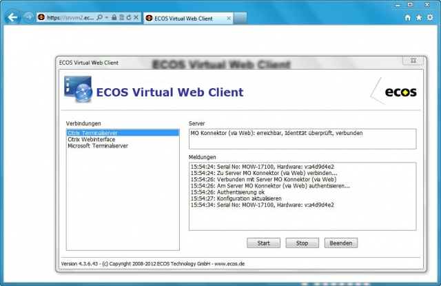 Tickets / Konzertkarten / Eintrittskarten | ECOS Virtual Web Client (www.ecos.de)