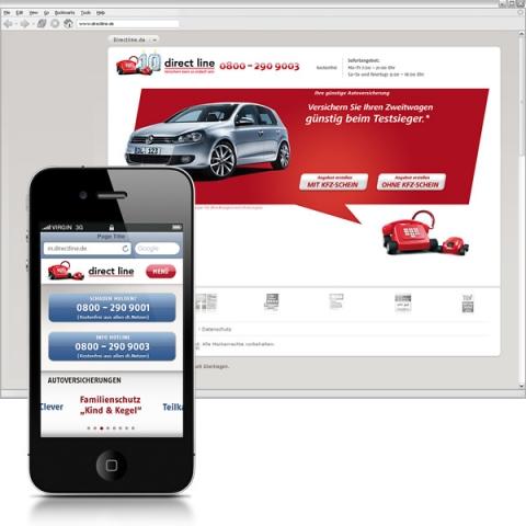 Versicherungen News & Infos | triplesense bringt die Website von Direct Line aufs Smartphone