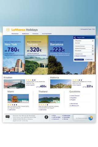 Europa-247.de - Europa Infos & Europa Tipps | people interactive konzipiert und gestaltet das neue Privatreiseportal Lufthansa Holidays.