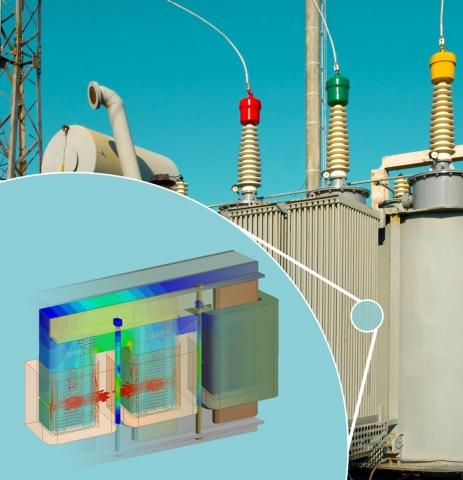 Die von CADFEM angebotenen Infotage zu ANSYS Multiphysik wenden sich unter anderem an Entwickler von elektrischen Energieversorgungsanlagen (Quelle: CADFEM GmbH)