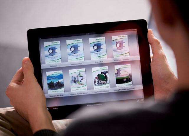 Notebook News, Notebook Infos & Notebook Tipps | Mit der kostenlosen Wollschläger App können iPad®-Nutzer immer und überall die Kataloge und Broschüren des Unternehmens nutzen und Artikel direkt bestellen.