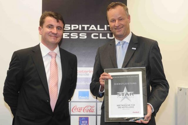 Hamburg-News.NET - Hamburg Infos & Hamburg Tipps | Thomas Karsch, Chefredakteur Top Hotel und Karsten Jeß, Geschäftsführer der Servitex GmbH (v.l.n.r.)