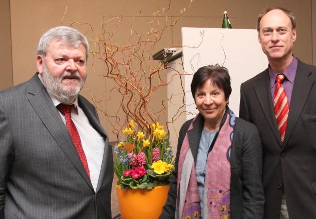 Dr. Hans Hopf, Renate Gaspar,  Prof. Jörg Baur, KatHO NRW Aachen (v.l.).