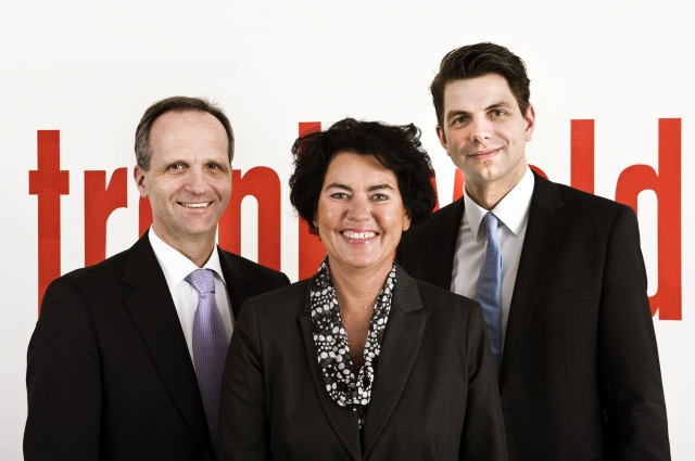 Nordrhein-Westfalen-Info.Net - Nordrhein-Westfalen Infos & Nordrhein-Westfalen Tipps | Die neue Trenkwalder-Geschäftsführung (v.l.): Martin Hagedorn (CSO), Bettina Schick (COO), Tobias Schütze (CFO).