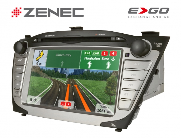 Europa-247.de - Europa Infos & Europa Tipps | Zenec ZE-NC4121D: fahrzeugspezifische Festeinbaunavigation für Hyundai iX35
