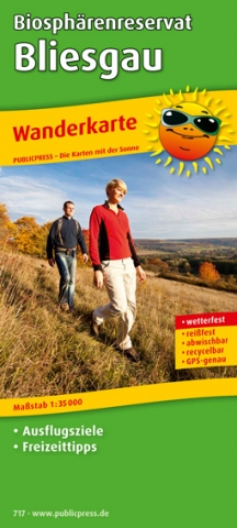 Saarland-Info.Net - Saarland Infos & Saarland Tipps | Wanderkarte Bliesgau/ Saarland