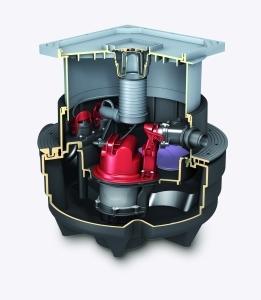 Besonders geeignet für den Wohnraum im Keller: Die geräuscharme und befliesbare  Fäkalienhebeanlage Aqualift F Compact.