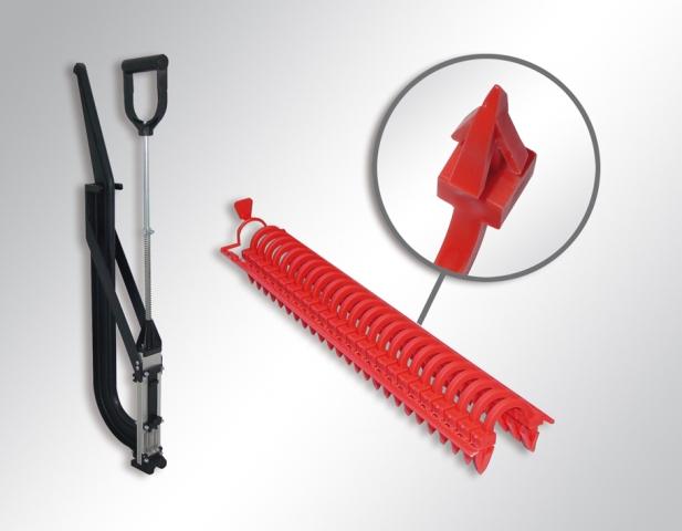 Kürzere Montagezeit: Ein neuer Tacker und 3D-Clips erleichtern die Installation der Purmo rolljet Fußbodenheizung.