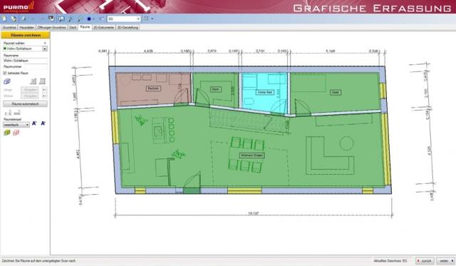 Großer Funktionsumfang: Mit der kostenlosen Purmo-Schnellauslegung können Heizkörper und Flächenheizungen tabellarisch und auch zeichnerisch geplant werden.