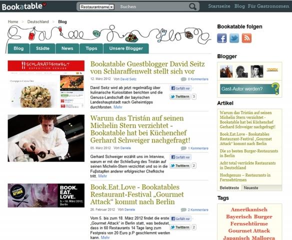 Restaurant Infos & Restaurant News @ Restaurant-Info-123.de | Der neue Kulinarik- und Lifestyle-Blog von Bookatable