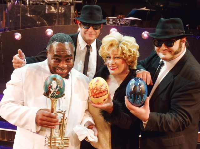Louis Armstrong, Bette Midler und die Blues Brothers freuen sich auf Ostern