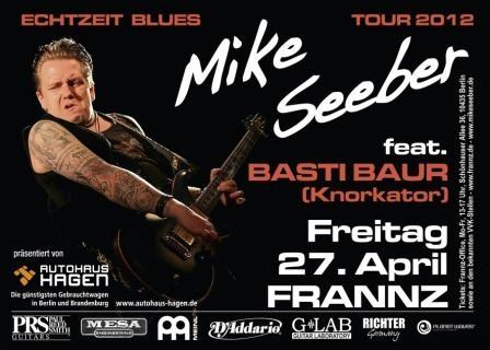 Tickets / Konzertkarten / Eintrittskarten | Am 27. April 2012 live in Berlin: Mike Seeber feat. Basti Baur (Knorkator), präsentiert von Autohaus Hagen