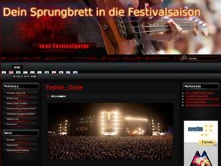 Layout von inas-festivalguide.de