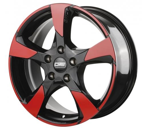 CMS C18 schwarz glänzend Flächen rot