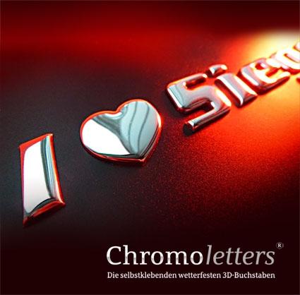 3D-Chrombuchstaben sorgen für Aufmerksamkeit!
