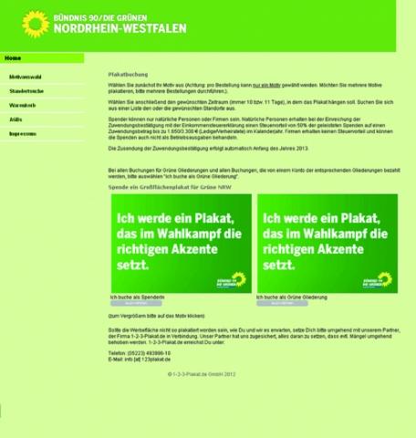 Oesterreicht-News-247.de - Österreich Infos & Österreich Tipps | Grüne Wahlkampfhilfe für jedermann: 1-2-3-Plakat.de stellt das benutzerfreundliche Portal für Plakatspenden zur Verfügung.