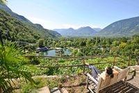 Italien-News.net - Italien Infos & Italien Tipps | Italien Garten: Die Südtiroler Bergwelt bildet eine beeindruckende Kulisse für die Gärten von Schloss Trauttmansdorff.