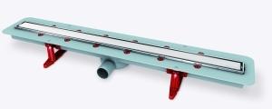 Trotz der minimalen Gesamteinbauhöhe von nur 93 Millimetern hat die Linearis Comfort eine Abflussleistung von 63 Litern/Minute.
