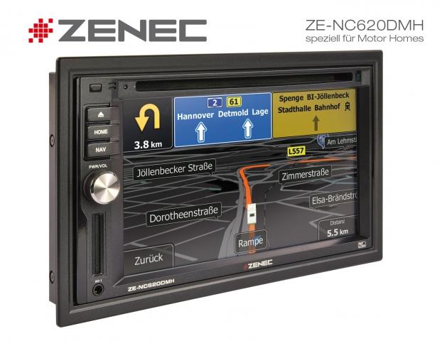 Zenec ZE-NC620DMH: Festeinbaunavigation speziell für Reisemobile und Caravans