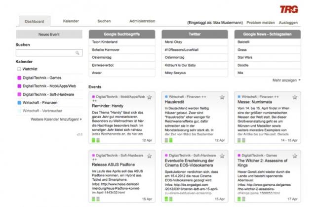 TRG startet mit Redaktionskalender.de ein Werkzeug für nachfrageorientierte Arbeit in Online Redaktionen