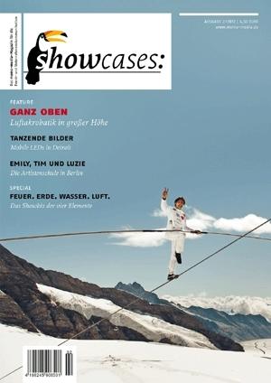 Tickets / Konzertkarten / Eintrittskarten | showcases Cover: Artist Freddy Nock auf dem Tragseil einer Seilbahn