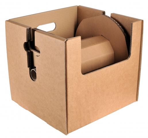 Europa-247.de - Europa Infos & Europa Tipps | Für die Klaus Faber AG entwickelte SCA Packaging eine abrollbare Kabelspule, die komplett aus Wellpappe besteht. Eine geschickte Konstruktion gewährleistet die nötige Stabilität und einen gleichmäßigen Rundlauf beim Abrollen.
