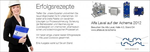 Sachsen-Anhalt-Info.Net - Sachsen-Anhalt Infos & Sachsen-Anhalt Tipps | Erfolgsrezepte teilen mit Alfa Laval auf der ACHEMA 2012
