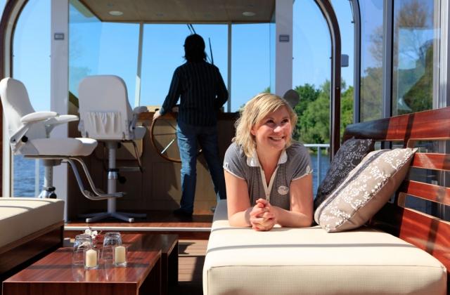 Tickets / Konzertkarten / Eintrittskarten | PonTOM® Cabrio 14 mit großem Sonnendeck für Bootstouren auf der Havel.