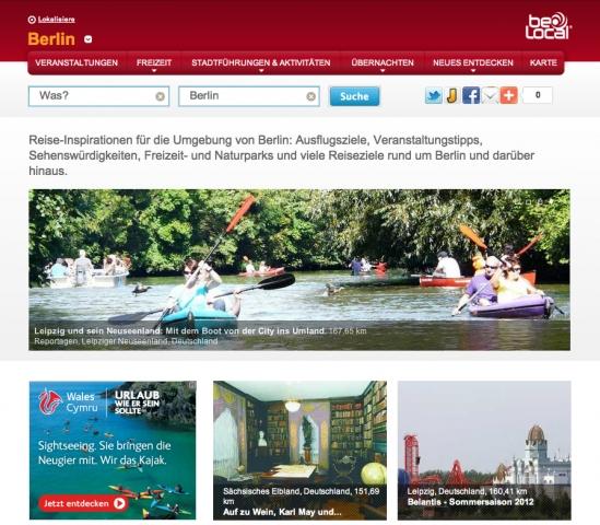 Mit Freizeit- und Reiseführer beLocal kostenlos für touristische Angebote, Veranstaltungen und lokale Geschäfte werben