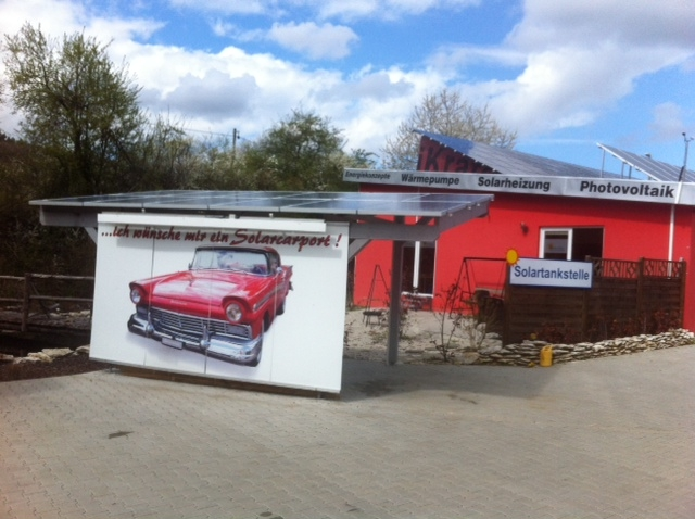 Alternative & Erneuerbare Energien News: Solarcarport und Solartankstelle im Städtedreieck Nürnberg Fürth Erlangen