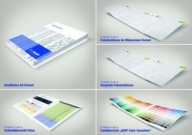 Die neue Dekorputz-Broschüre von BASF Wall Systems liefert auf über 70 Seiten großformatige Musterflächen, Produktinformationen, technische Daten, Hinweise auf bauphysikalische Anforderungen und Hilfestellungen bei der richtigen Farbtonwahl.
