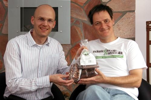 BIO @ Bio-News-Net | Lars Kruse von schokoladen-outlet.de und Kopfrechen-Weltmeister Gert Mittring