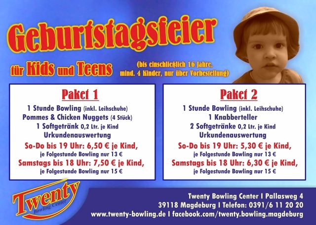 Auto News | Kindergeburtstag im Magdeburger Twenty Bowling Center