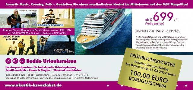 Musik & Lifestyle & Unterhaltung @ Mode-und-Music.de | Allgemeine Informationen zur Akustik Kreuzfahrt