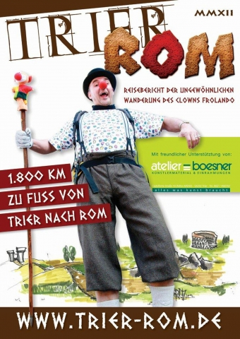 Rheinland-Pfalz-Info.Net - Rheinland-Pfalz Infos & Rheinland-Pfalz Tipps | Clown Frolando pilgert vom Dom nach Rom